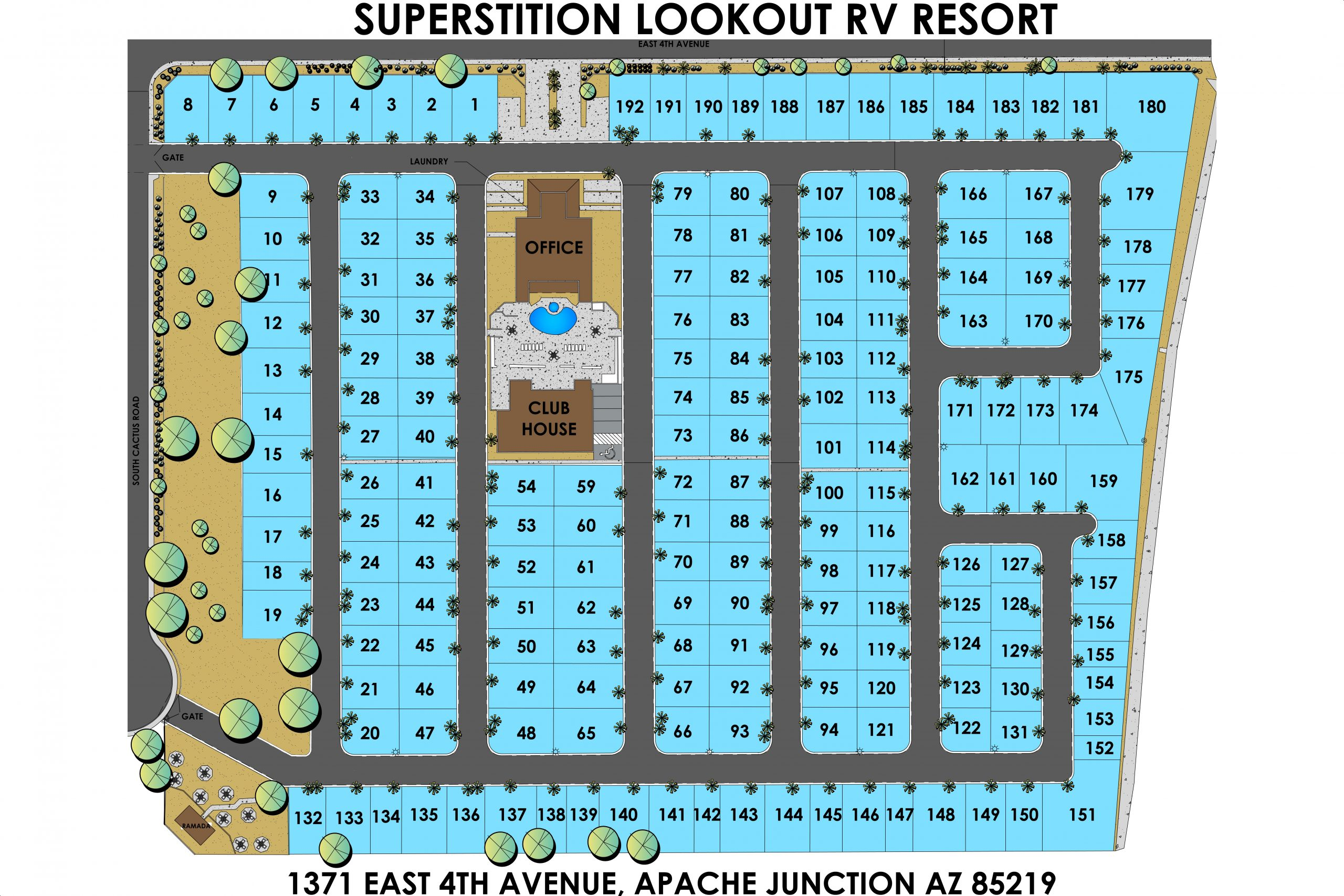 Superstition Lookout RV Resort Lot Map