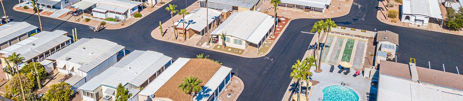 Aerial drone photo of El Dorado RV Resort