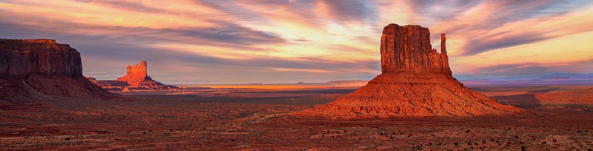 Arizona mountains and valleys