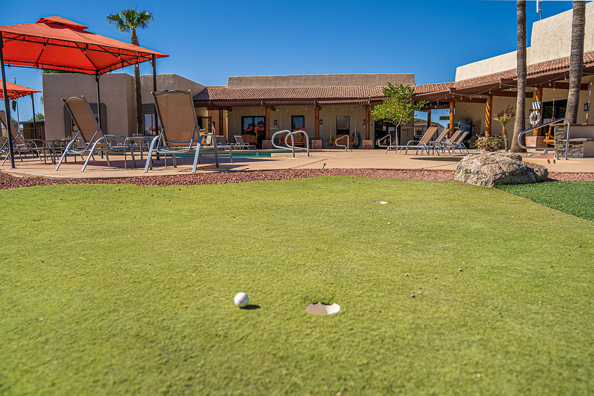 Shiprock RV Resort putting green area