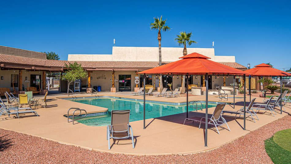 Shiprock RV Resort pool and spa