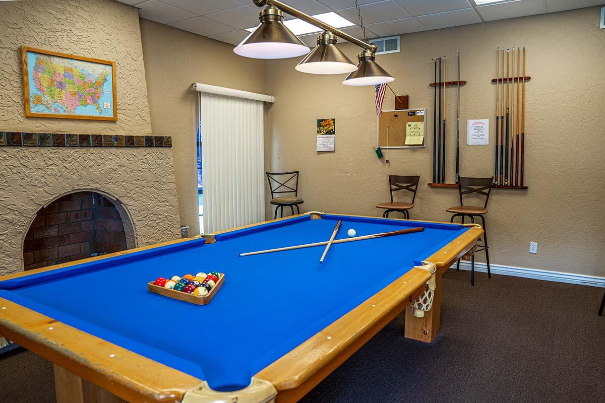Superstition Lookout RV Resort billiards room