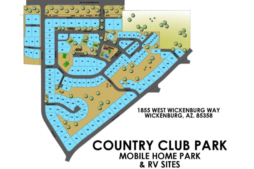 Mobile Home / RV Lot map of Country Club Park