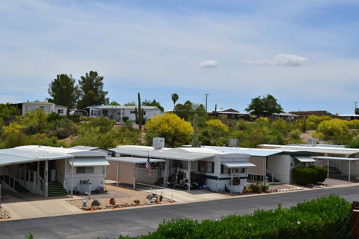 Multi-level grounds at Country Club Mobile Home & RV Park