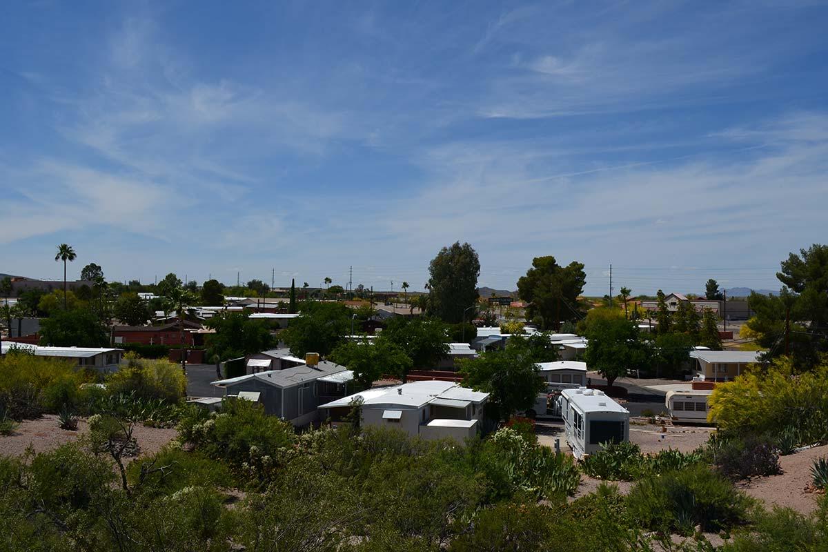 Blue sky views at Country Club Mobile Home & RV Park
