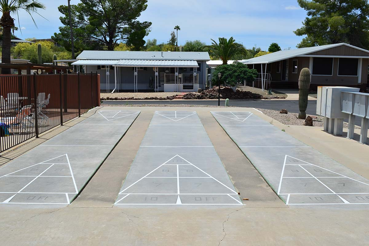 Shuffle Board Courts at Country Club Mobile Home & RV Park