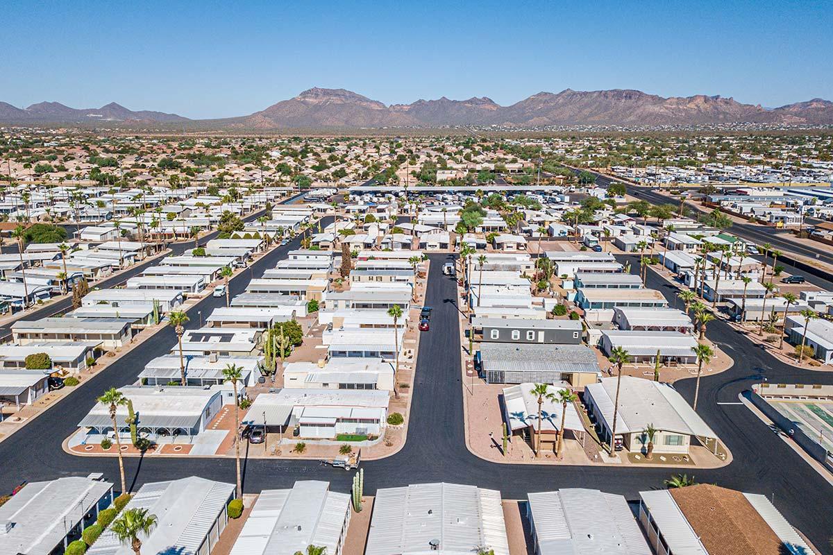 Aerial street view of El Dorado Mobile Estates & RV Park