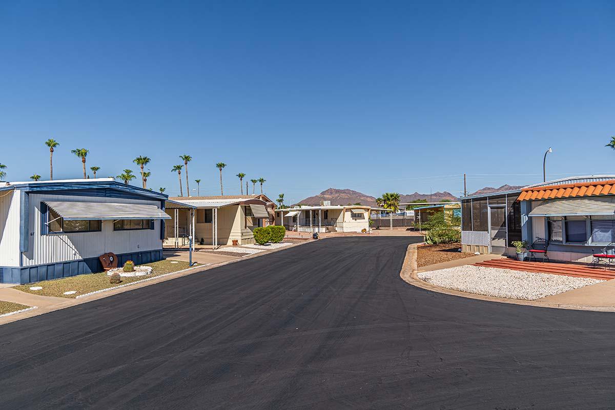Paved roads through El Dorado Mobile Estates & RV Park