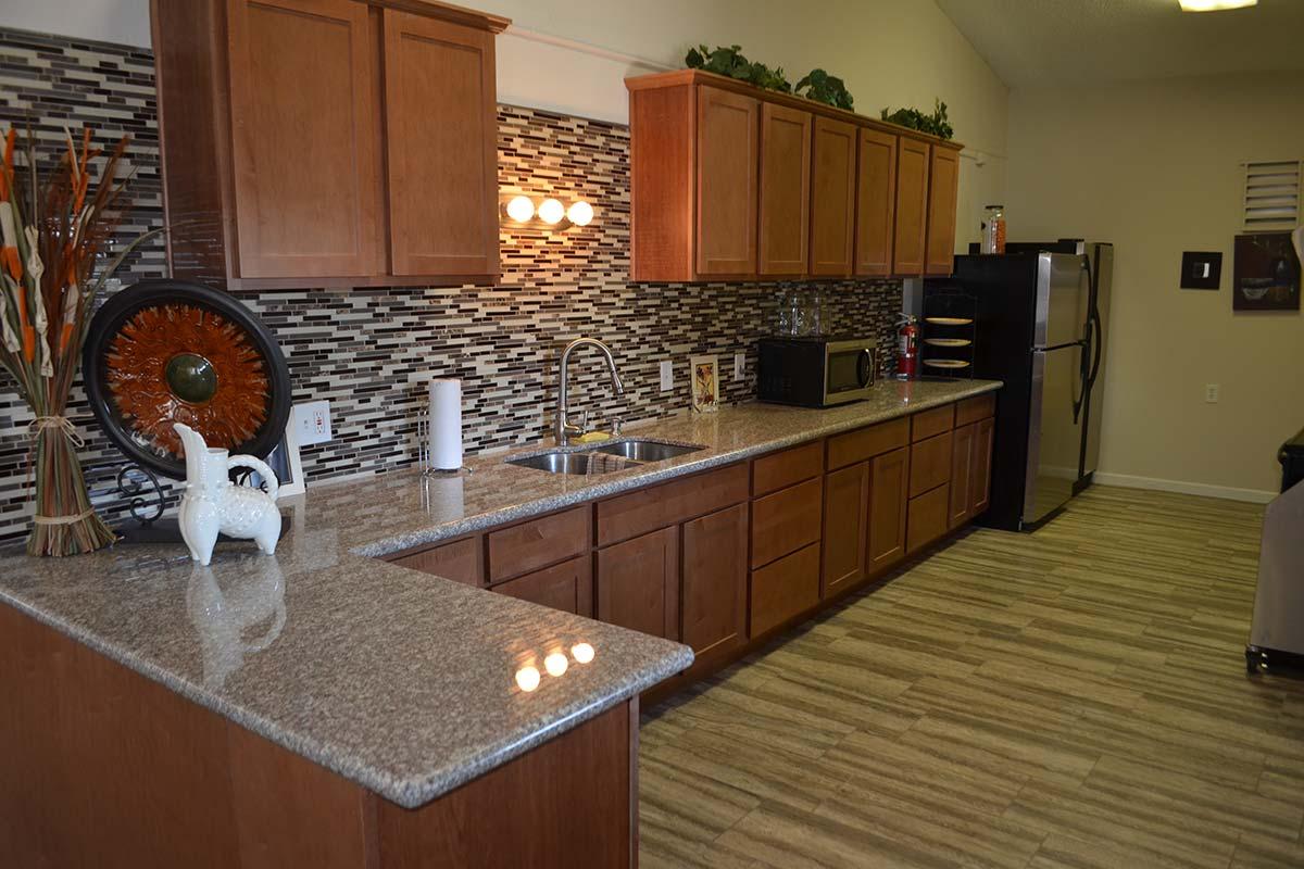 El Dorado Mobile Estates & RV Park clubhouse kitchen with full amenities