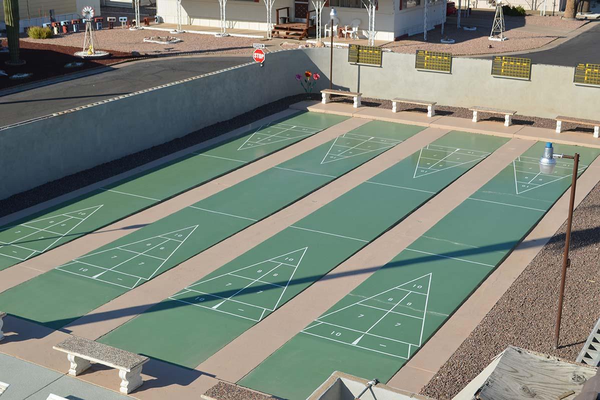 El Dorado Mobile Estates & RV Park Shuffleboard courts