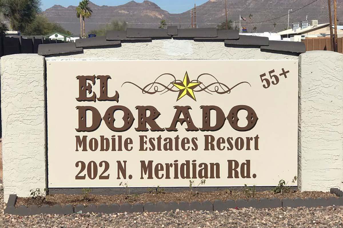 El Dorado Mobile Estates Resort park entrance sign