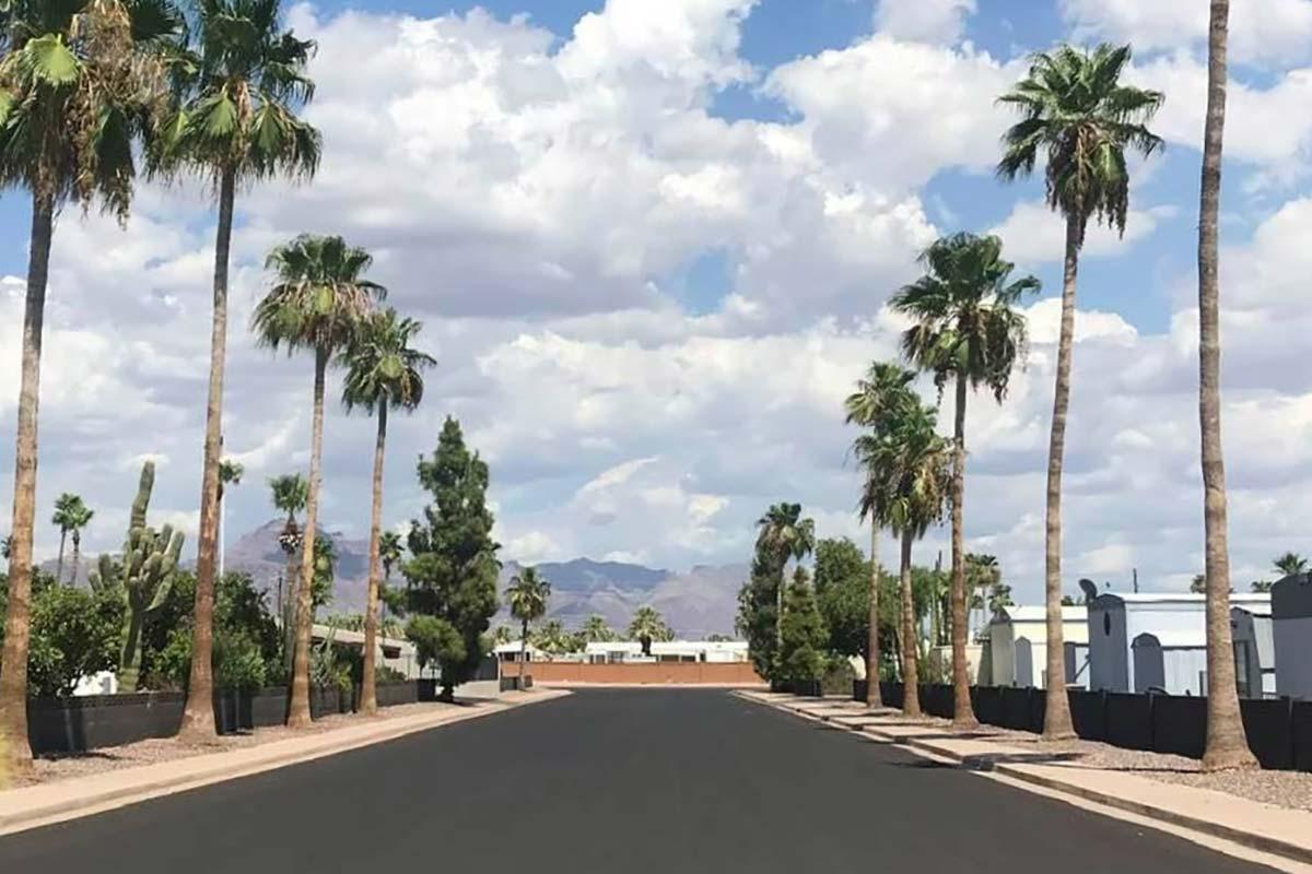 El Dorado Mobile Estates Resort paved roads and mountain views