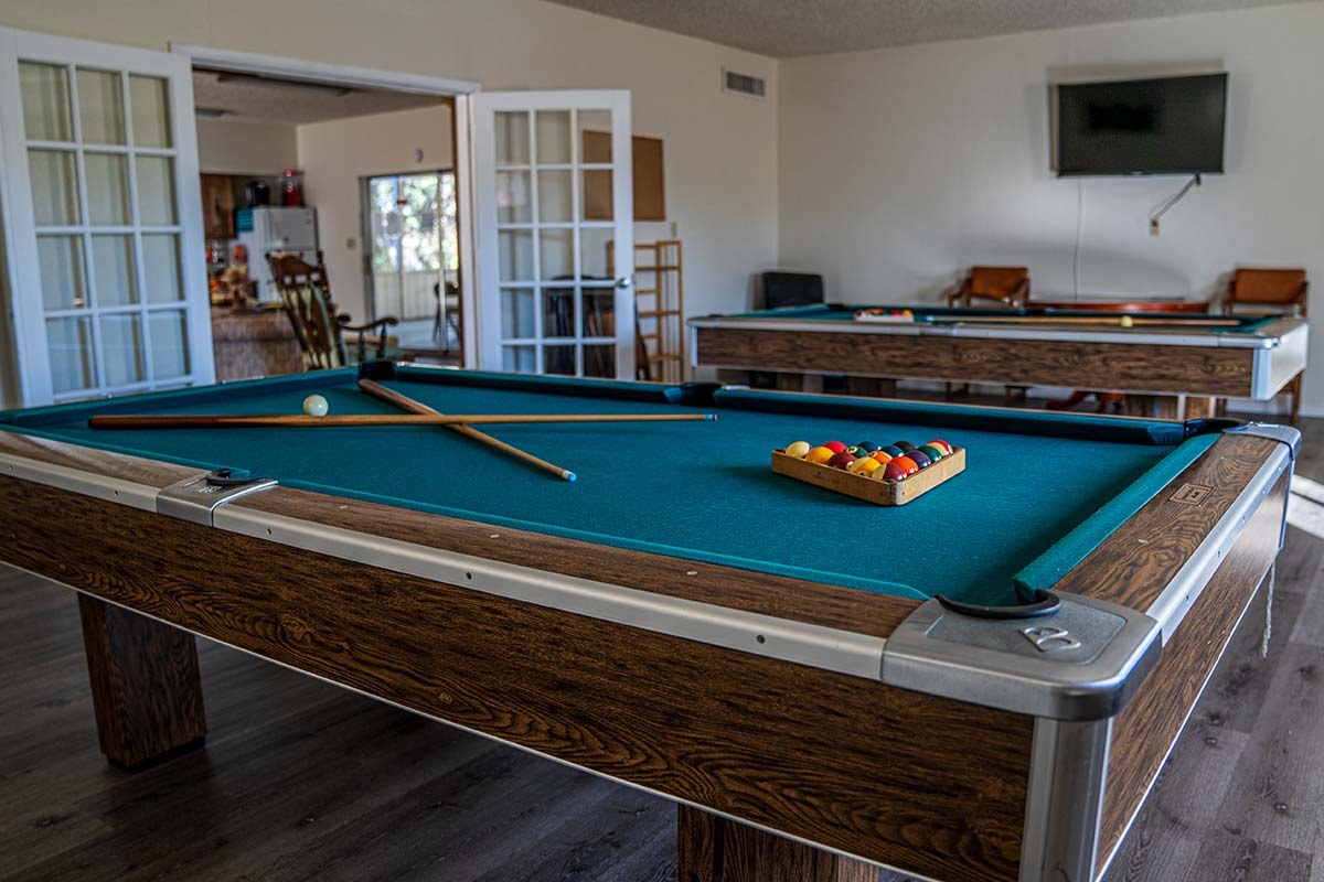 Houston Creek RV Resort Community Billiards room