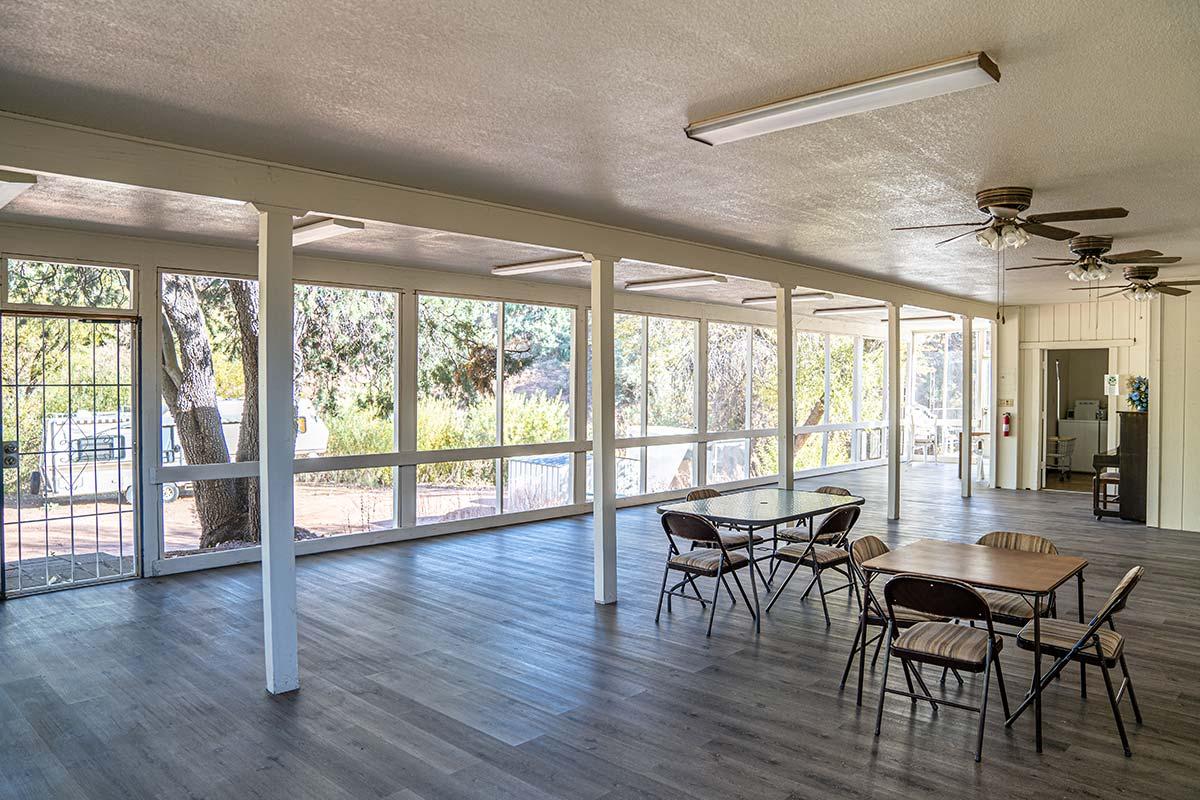 Houston Creek RV Resort Community's recreation hall