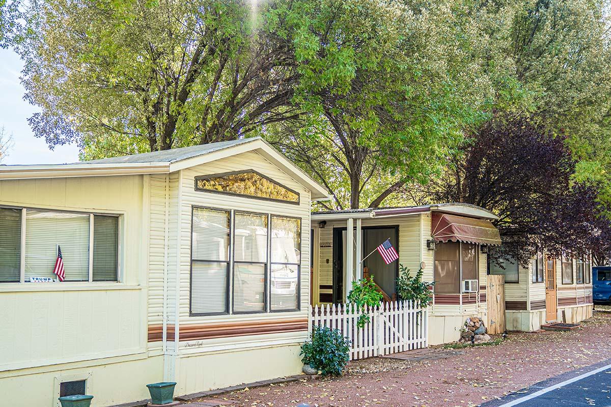 Houston Creek Senior RV Resort Community's mobile homes