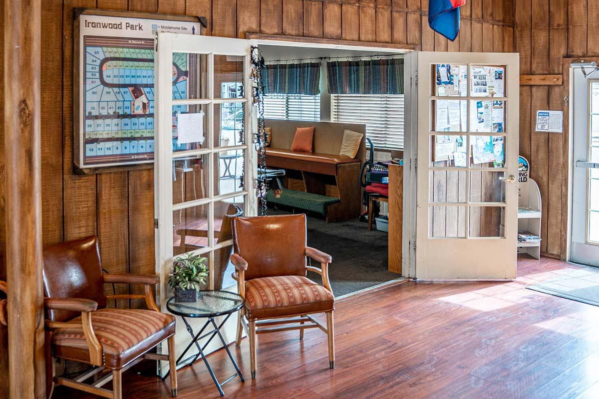 Ironwood RV & Mobile Home Park Clubhouse entrance