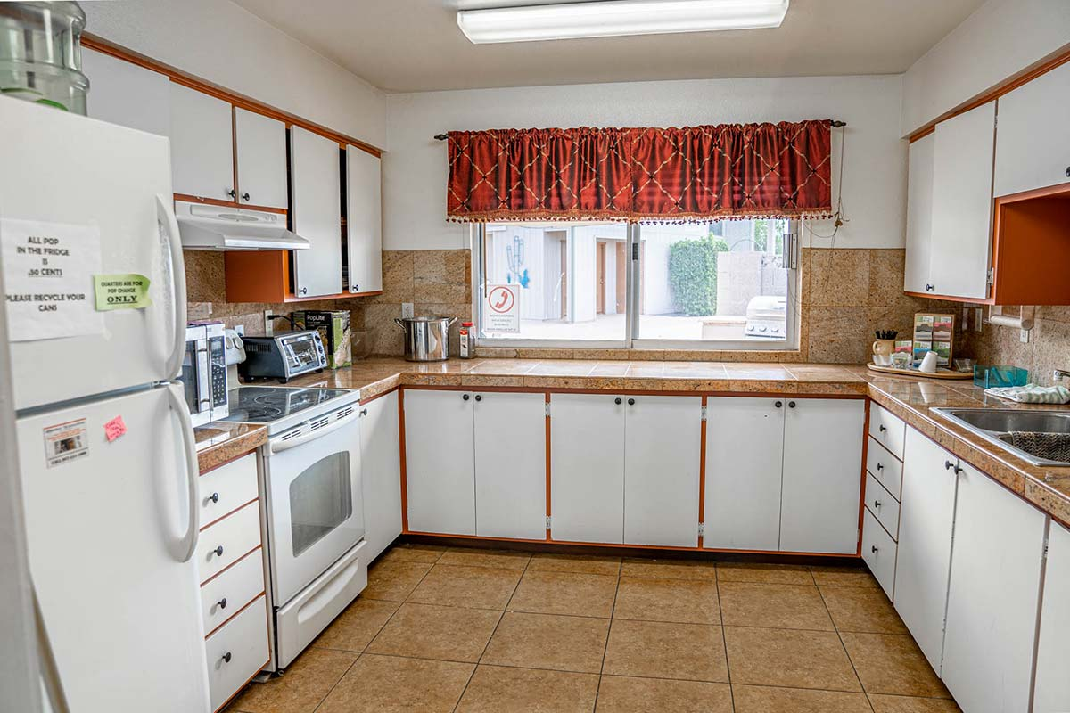 Ironwood RV & Mobile Home Park's Clubhouse kitchen