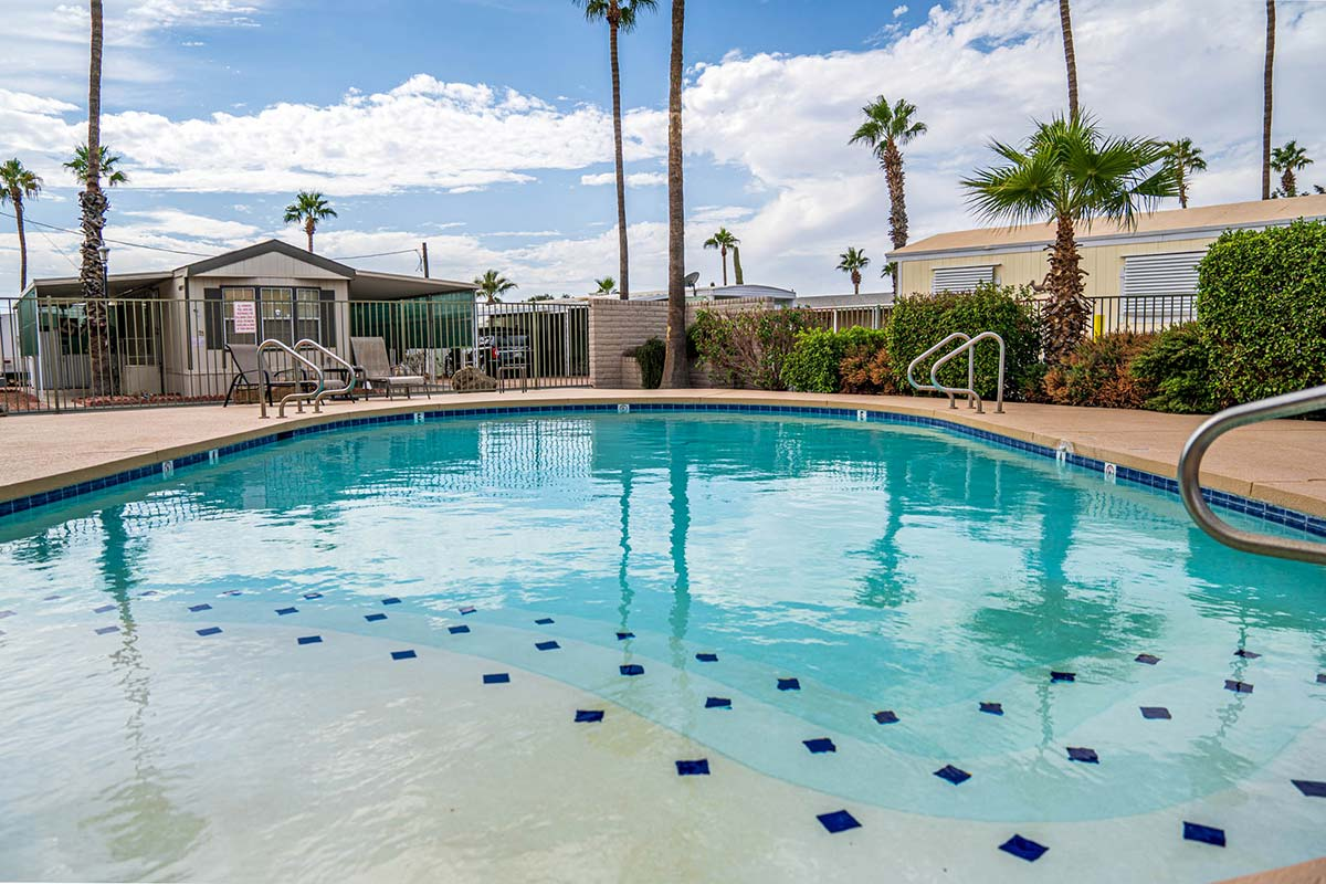 Ironwood RV & Mobile Home Park's seasonally heated pool