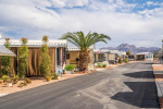 Paved streets with Mountain views
