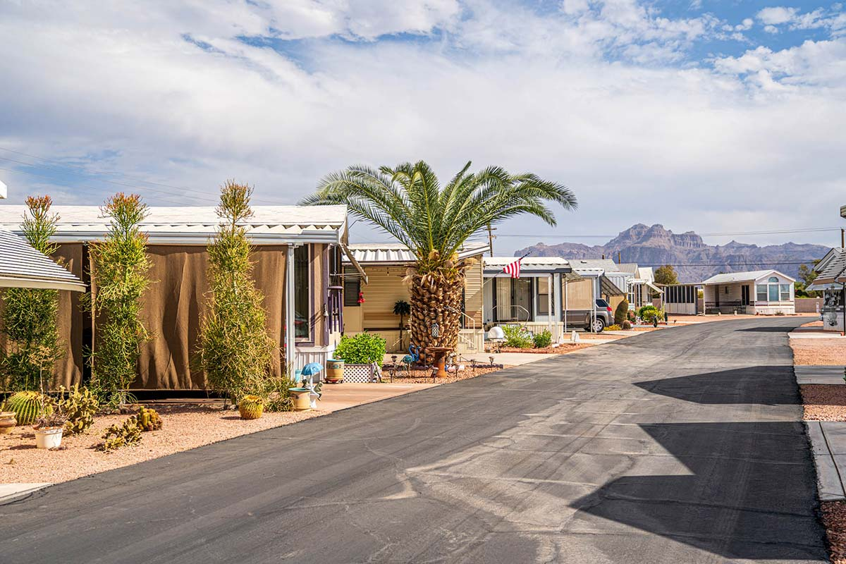 Mountain views from Ironwood RV & Mobile Home Park