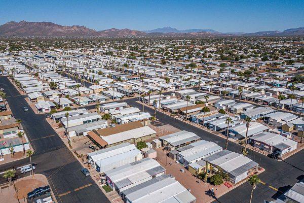 Meridian RV Resort with views of Arizona's vast mountain ranges