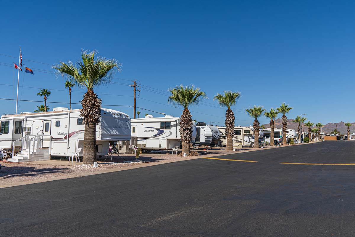 RV and Camper spots at Meridian RV Resort
