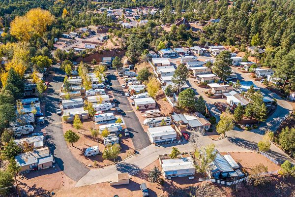 Aerial view of Pineview RV Resort
