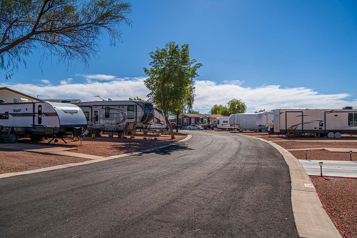 Paved roads throughout Shiprock RV Resort