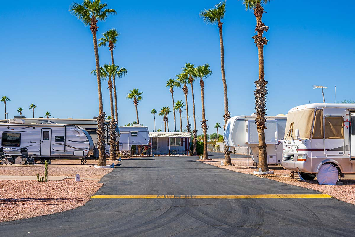 RV and Camper lots at Sierra Leone RV Park