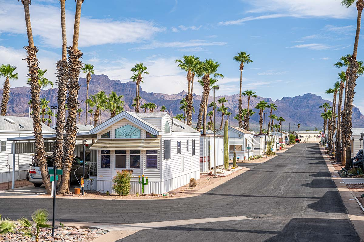 Superstition Lookout RV Resort near the foothills of the majestic Superstition Mountains