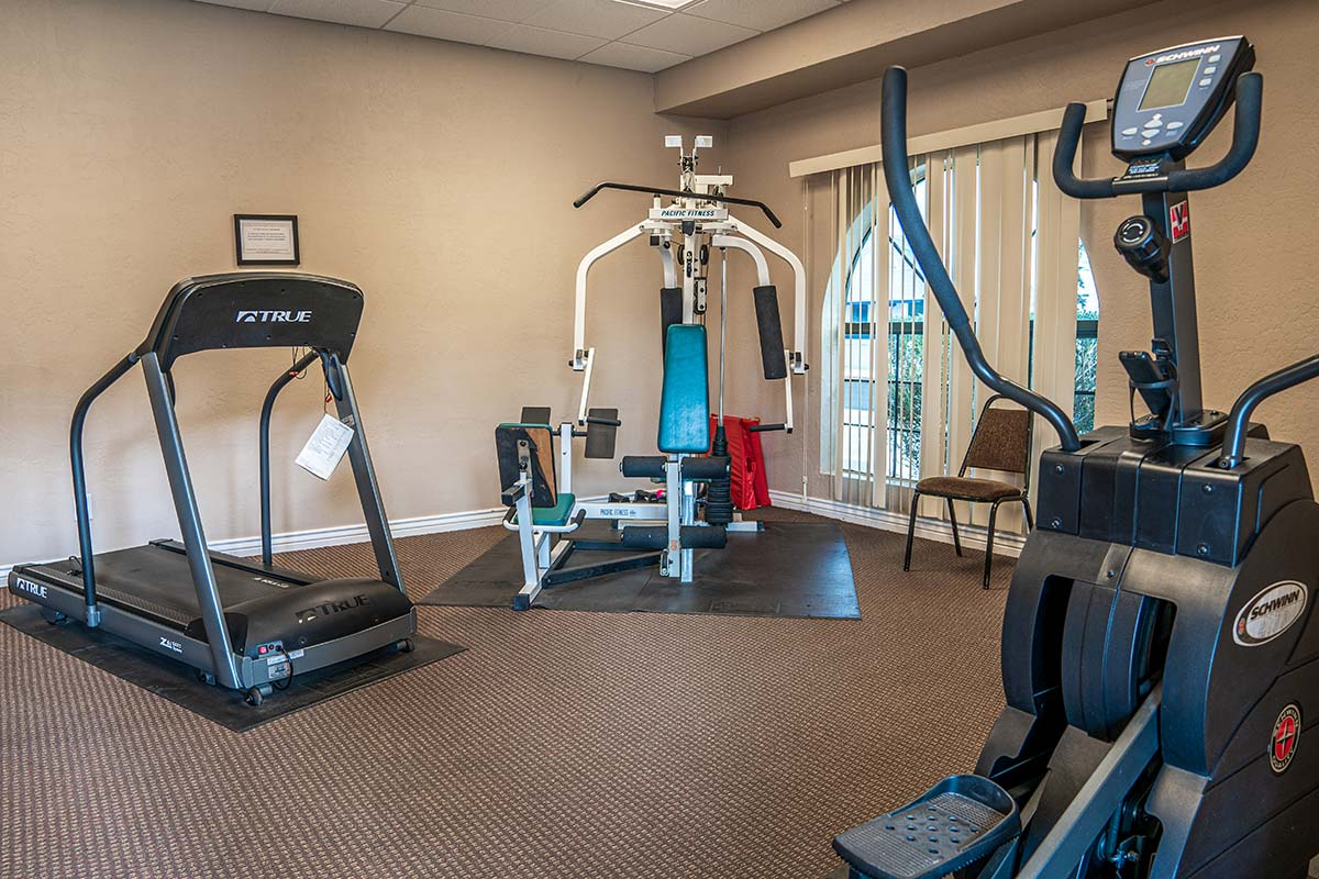 Fitness equipment at Superstition Lookout RV Resort
