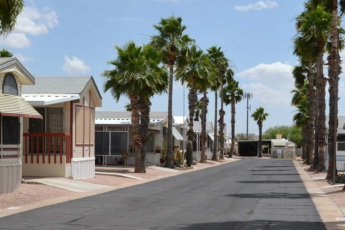 Superstition Lookout RV Resort's paved streets