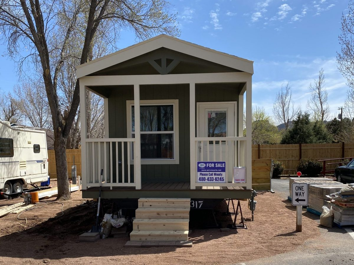 Manufactured home with deck